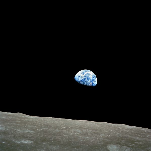 "Apollo 8 ""Earthrise"" photo taken December 24, 1968"