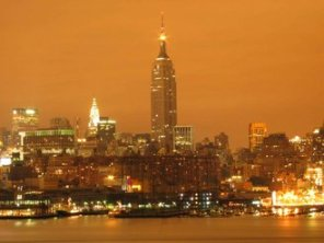 NYC sky glow creates an ugly orange blanket over the city