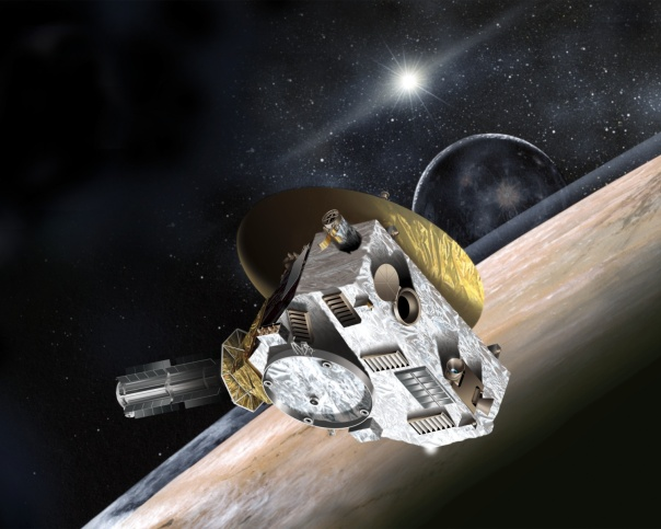 Artists conception of New Horizons probe at Pluto