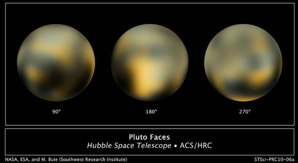 The unknown face of Pluto taken by Hubble.