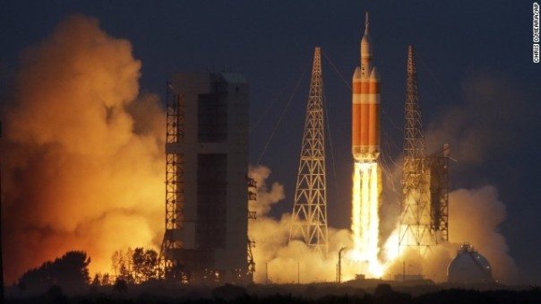Space Launch System (SLS) test flight of the unmanned Orion capsule (Credit:  CNN)
